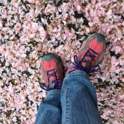 pink under foot