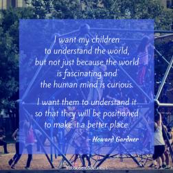 PIX - I want my children to understand the world