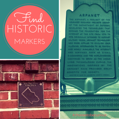 Find historic markers.
