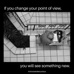 If you change your point of view you will see something new.