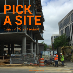 Pick a SIte - what's different today?