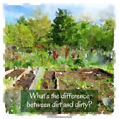 What's the differencebetween dirt and dirty?