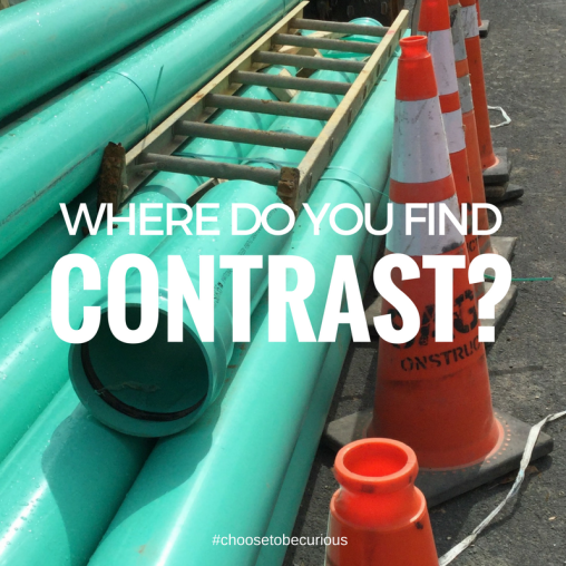 Where do you find contrast?