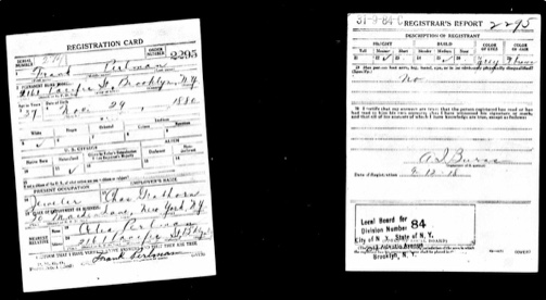 Frank draft registration