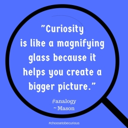 Mason - Curioisty is like a magnifying glass